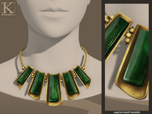 (Kunglers) Triss necklace - Emerald