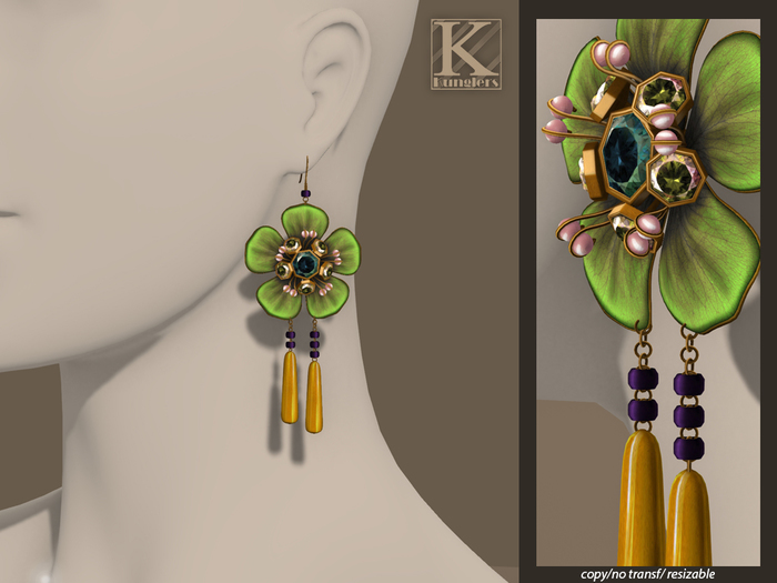 (Kunglers) Blanche earrings - Candy