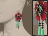 (Kunglers) Blanche earrings - Forest