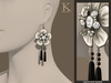 (Kunglers) Blanche earrings - Midnight