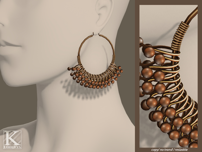 (Kunglers) Ciri earrings - copper