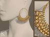 (Kunglers) Ciri earrings - golden