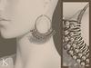 (Kunglers) Ciri earrings - silver