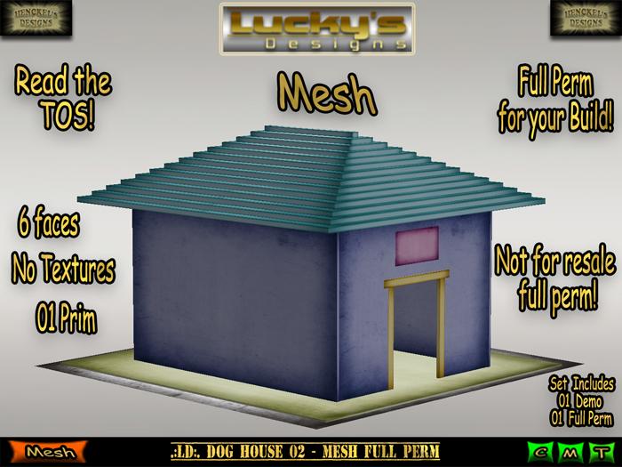 Second Life Marketplace - .:LD:. Dog House 02 - MESH FULL PERM:.