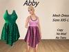 Abby Dress Aqua