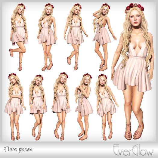 *EverGlow* - Flora poses
