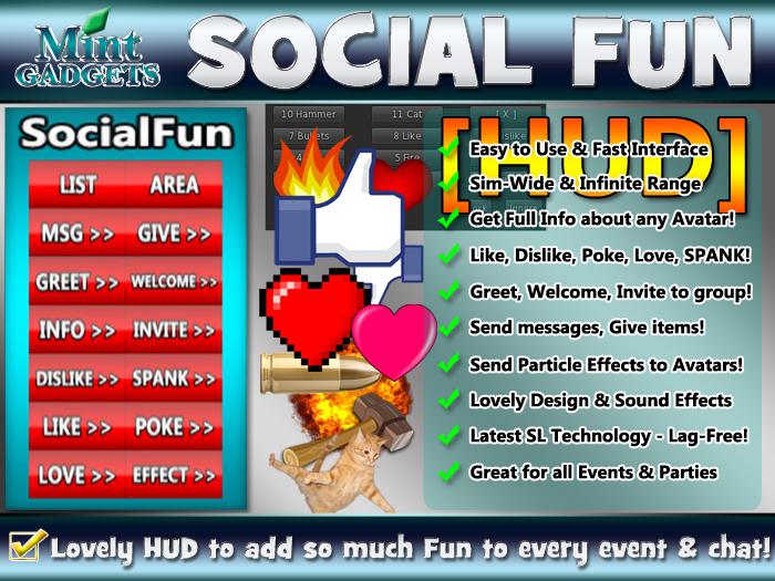 >> SocialFun HUD - Enjoy Interacting with Other Avatars!