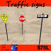 mesh Traffic signs STOP,YEILD,ONE WAY (CRATE)