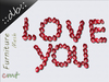 ::db::  Mesh Love You Roses Petals