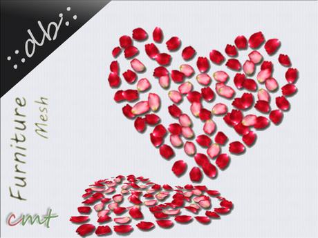 ::db:: Mesh Heart Rose Petals full filled
