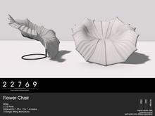 22769 ~ [bauwerk] Flower Chair White