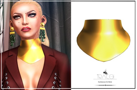 Panama Collar_Gold by Tracei