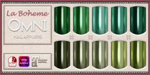 [LB Solids Chrome S5 Greens] OMNI Set - Slink Omega Maitreya