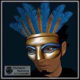 Egyptian Domino Mask - Gold & Blue