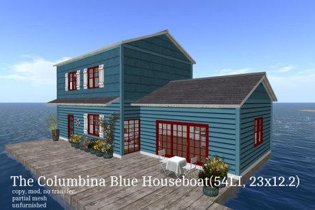 The Columbina Blue Houseboat(54LI, 23x12.2)