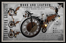 PIXEL BOX - Steampunk Bicycle Wood and Leather