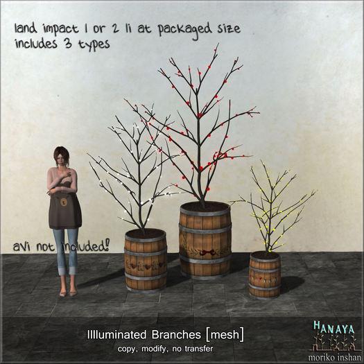 -Hanaya- Iluminated Branches [mesh]