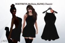 D&S design  black dress MAITREYA,Belleza,SLINK,Classic
