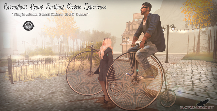 Victorian Penny Farthing Bicycle Experience *YES,IT WORKS* 4 Land Impact