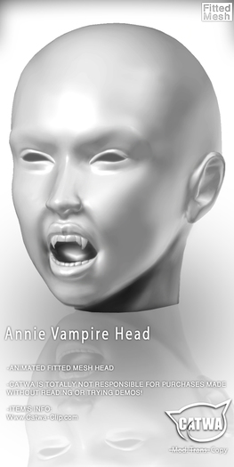CATWA HEAD Annie Vampire [Demo]