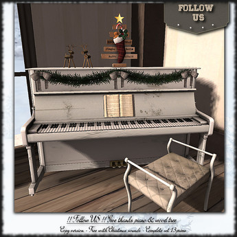!! Follow US !! Give thanks piano & sock tree COPY VERSION