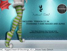 NC : Rigged Mesh Elf Stocking_V2.1_Stripe Toxic Grinch