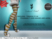 NC : Rigged Mesh Elf Stocking_V2.1_Stripe Mustard