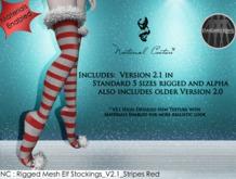 NC : Rigged Mesh Elf Stocking_V2.1_Stripe Red