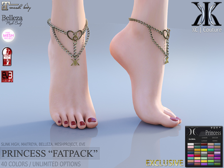 -KC- PRINCESS ANKLET - SLINK HIGH, MAITREYA, BELLEZA, TMP, EVE!