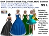 OnP Gown01 Mesh Top, Flexi gowns, HUD for Color