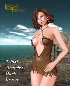 Babele Fashion :: Tribal Microdress Dark Brown