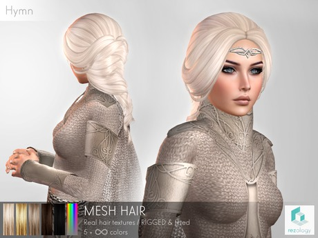 rezology Hymn (RIGGED mesh hair) - 557 complexity
