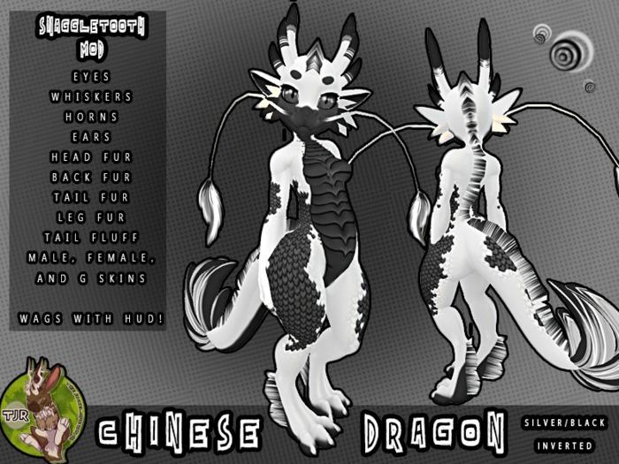 [TJR] CHINESE DRAGON [SLVR/BLK INVERTED]
