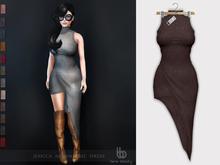 Bens Boutique - Jessica Asymmetric Dress Burgundy