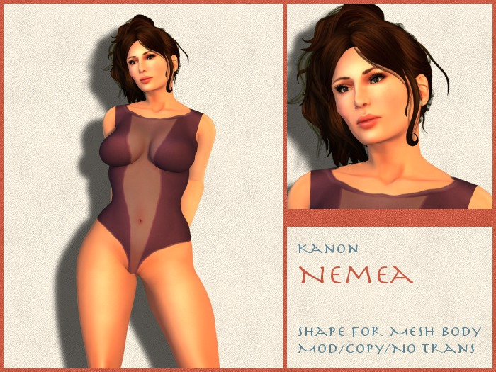Kanon Female Shape - Nemea - For Slink Physique Hourglass