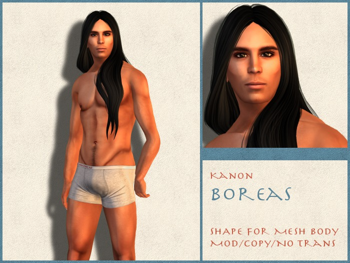 Kanon Male Shape - Boreas DEMO - For SLink Physique Male
