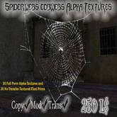 Spiderwebs/cobwebs Alpha Textures