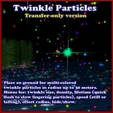 Twinkling Stars Particle Effect (twinkle star emitter) TRANSFER-ONLY VERSION