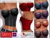 LARRY JEANS - Black Lace Strapless Top - 6 Color Pack