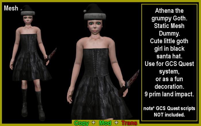 Athena the grumpy Goth Dummy