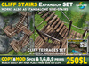 Wooden STAIRS Expansion SET - stairs prefabs and terrace bridge - for cliffs, mountains and waterfalls MOD COPY