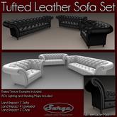 Tufted Leather Sofa Set - Full Perm Mesh - Low Impact