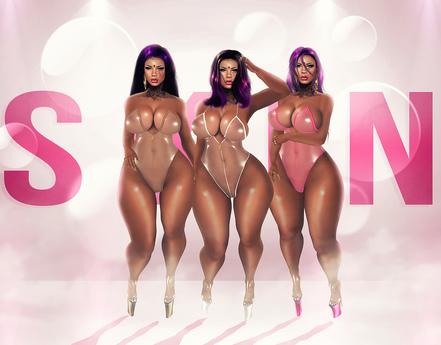 _S K I N_  Jasmine Plastic Suit Pink