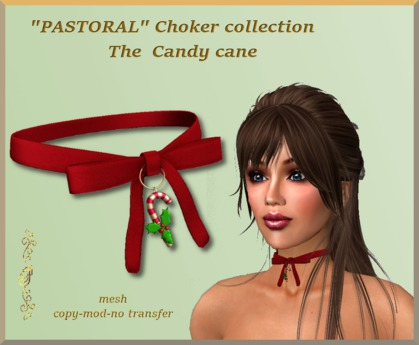 """""""PASTORAL"""" Choker collection, THE CANDY CANE"""