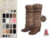 PLASTIX - Fur Wedge Boots (Brown)