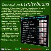 HaxWorx - texas hold em - leaderboard