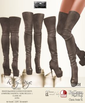 MOREA STYLE -  MESH BOOTS - RILEY - BEIGE