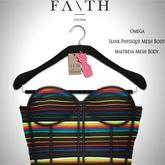 Faith/Sienna corset rainbow
