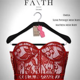 Faith/Sienna corset  lace red