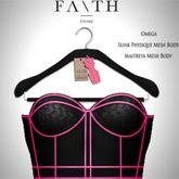 Faith/Sienna corset black & pink